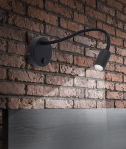 LAGOS LED black kinkiet 2450 TK Lighting